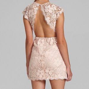 BCBGeneration Blush Lace Open Back Dress Sz 4